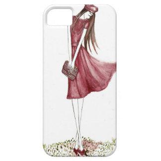 Woman in burgundy iPhone 5 Case-Mate carcasas