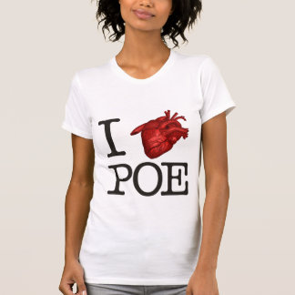 "Woman T-Shirt ""Poe Heart"" Camiseta"