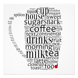 Word cloud illustration related to coffee impresiones fotográficas