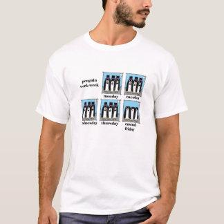 workweek del pingüino camiseta