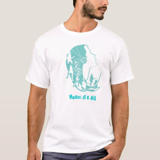 Worlos Music shirt - Aqua Camiseta