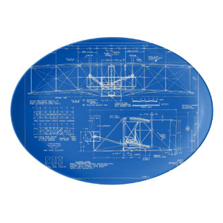 """Wright Bros. Modelo 1903 del """"aviador"""" Fuente De Porcelana"""