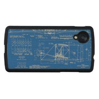 """Wright Bros. Modelo 1903 del """"aviador"""" Funda De Nexus 5 Carved® Slim De Arce"""