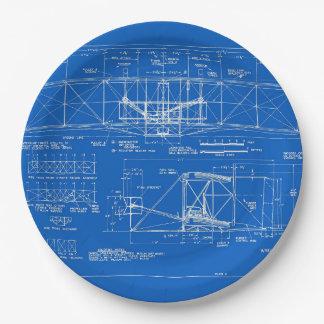 """Wright Bros. Modelo 1903 del """"aviador"""" Plato De Papel"""