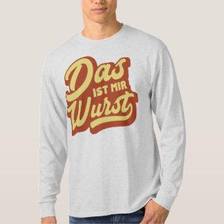 Wurst de los Ist MIR del Das, camiseta alemana del