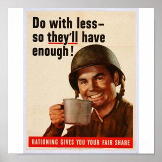 WW2 hacen con menos así que tendrán bastantes Póster