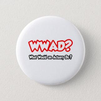 ¿WWAD… qué un actuario haría? Chapa Redonda De 5 Cm