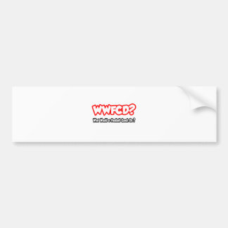 ¿WWFCD… qué un entrenador de fútbol haría? Etiqueta De Parachoque