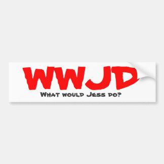 ¿WWJD, qué Jess haría? Pegatina Para Coche
