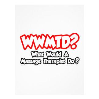¿WWMTD… qué un terapeuta del masaje haría? Folleto 21,6 X 28 Cm