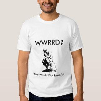 ¿WWRRD? (Frente y parte posterior) Camisetas