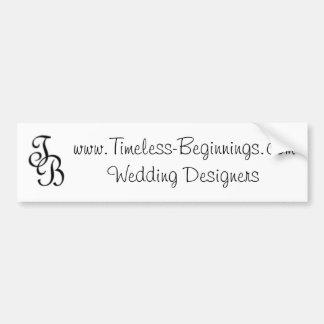 www.Timeless-Beginnings.com que casa a diseñadores Pegatina Para Coche