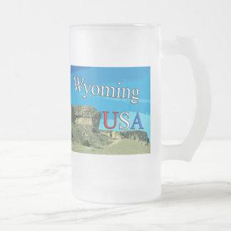 Wyoming los E.E.U.U. heló la taza del vidrio