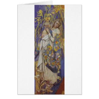 Wyspianski, Caritas (Madonna y niño), 1904 (1) Tarjetón
