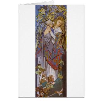 Wyspianski, Caritas (Madonna y niño), 1904 (2) Tarjeta Pequeña