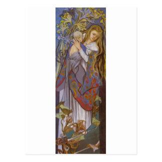 Wyspianski, Caritas (Madonna y niño), 1904 (2) Tarjeta Postal