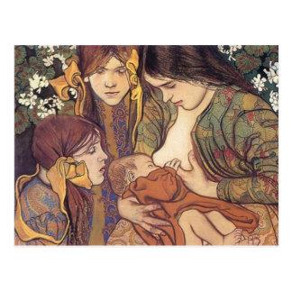 Wyspianski, Maternity, 1905 Postal