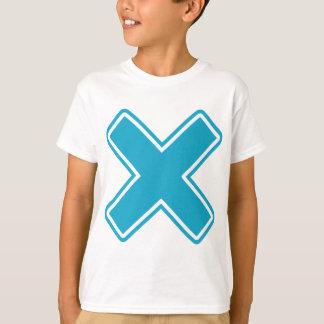 X azul camisas