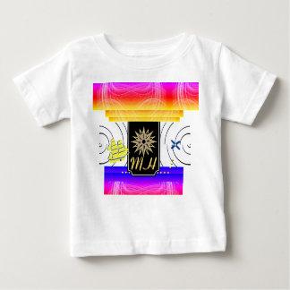X marcas la camiseta del bebé del monograma del