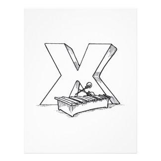 x para el esquema del xilófono folleto 21,6 x 28 cm