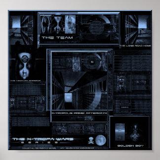 X-Tropa guerrea (la versión azul) Póster