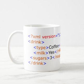 XML que programa la taza de café