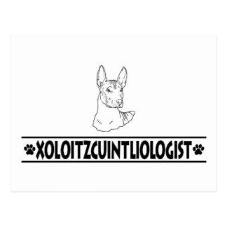 Xoloitzcuintli chistoso postal