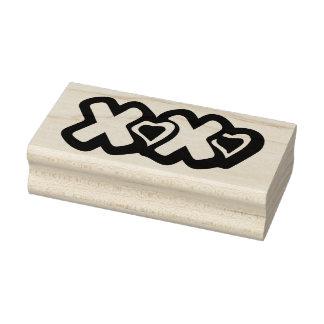 XOXO con el sello de goma del arte de los