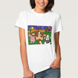 XV vaca, cerdo, y diseño del arte popular de las Camiseta
