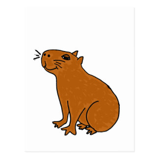 XX arte del Capybara Postal