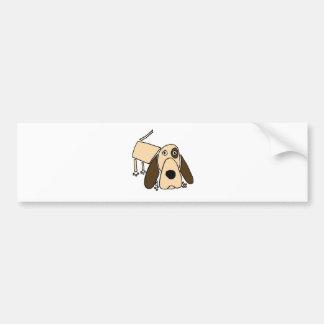 XX arte divertido del perro de caza Pegatina Para Coche