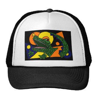 XX arte impresionante del cocodrilo Gorras