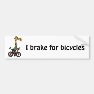 XX dibujo animado divertido de la bicicleta del mo Etiqueta De Parachoque