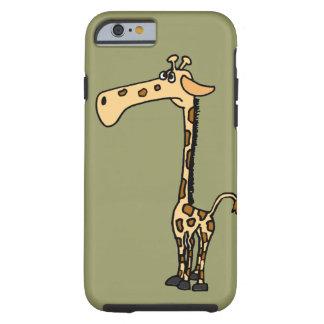 XX dibujo animado divertido de la jirafa Funda De iPhone 6 Tough