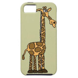 XX dibujo animado enrrollado de la jirafa Funda Para iPhone SE/5/5s