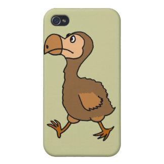 XX diseño hilarante del pájaro del Dodo iPhone 4 Carcasas
