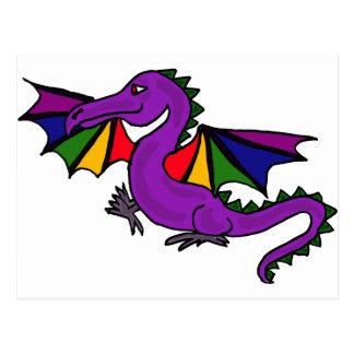 XX dragón de la púrpura Postal