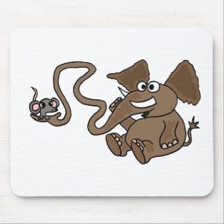 XX elefante divertido con el ratón en dibujo anima Alfombrilla De Ratón