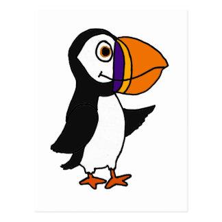 XX pájaro lindo adorable del frailecillo Postal