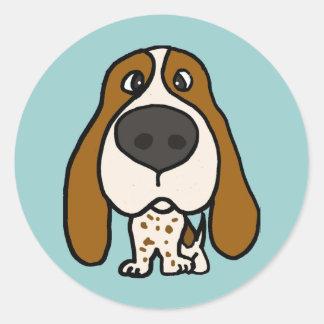 XX perro de caza divertido Etiquetas Redondas