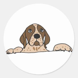 XX perro de caza enrrollado Pegatina