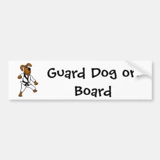 XX perro de perrito de los artes marciales Pegatina Para Coche