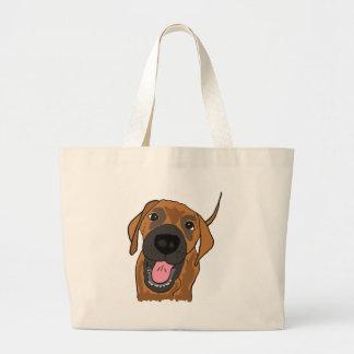 XX perro de perrito que habla impresionante Bolsas Lienzo