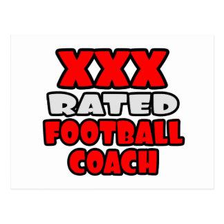 XXX entrenador de fútbol clasificado Tarjetas Postales