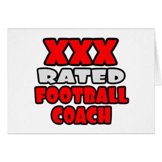 XXX entrenador de fútbol clasificado Tarjetas