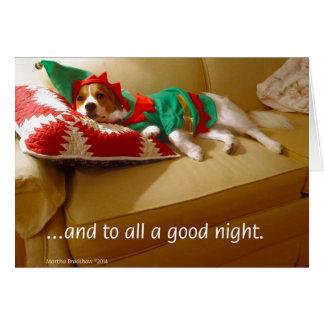 """""""….y a todo el buenas noches. """" tarjeta pequeña"""