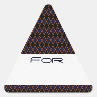 Y azul etiqueta modelada diamante negro del regalo