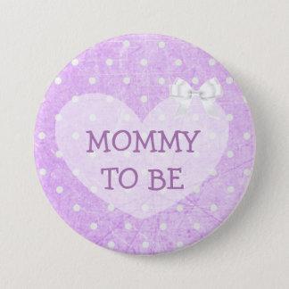 Y blanca abuela punteada polca púrpura a ser botón