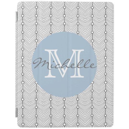 Y blanca cubierta personalizada impresión retra cover de iPad