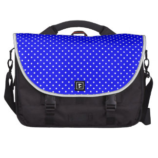 Y-Blanco-Polca-Puntos Azul-Oscuros Bolsas Para Portátil